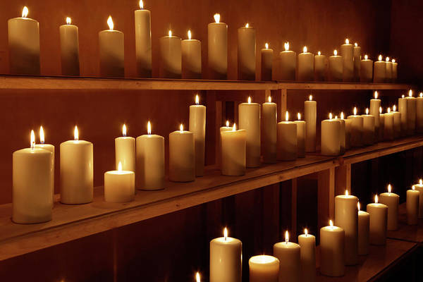 Wall Art - Photograph - Rows Of Candles, Santa Fe, New Mexico by Danita Delimont