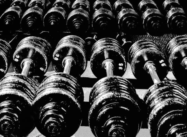 Sports Photograph - Rows Of Dumbbells by Tim Lynch