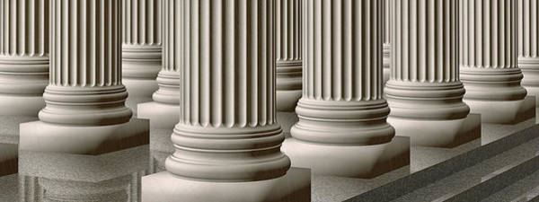 Wall Art - Photograph - Rows Of Ionic Marble Columns by Harald Sund