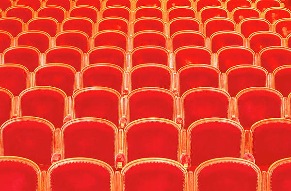 Armchair Photograph - Rows Of Red Chairs In Opera House by Emportes Jm