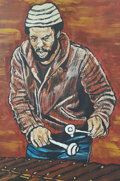 Painting - Roy Ayers by Rachel Natalie Rawlins