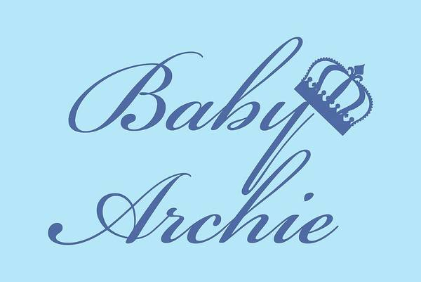Digital Art - Royal Baby Archie,t Shirt Dad And Baby Matching,mothers Day Gift,archie T Shirt, by David Millenheft
