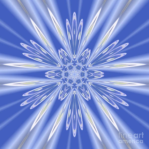 Digital Art - Royal Blue Star by Rachel Hannah