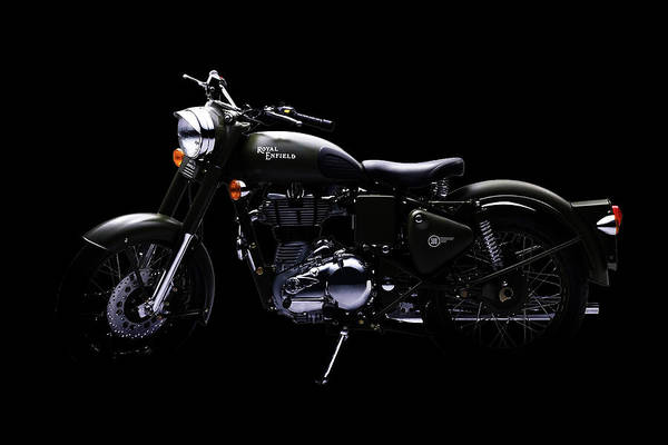 Wall Art - Mixed Media - Royal Enfield Classic 500 by Smart Aviation