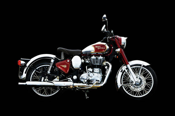 Wall Art - Mixed Media - Royal Enfield Classic Chrome by Smart Aviation