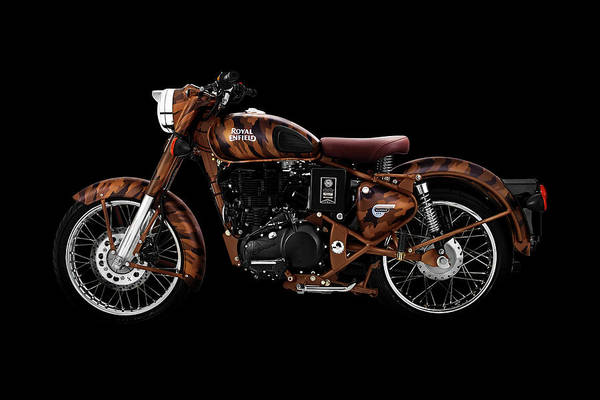 Wall Art - Mixed Media - Royal Enfield Classic Desert Storm by Smart Aviation