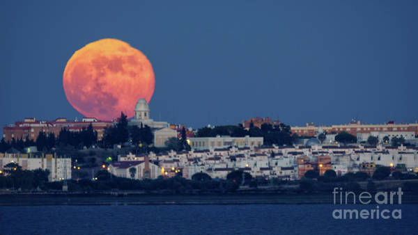 Photograph - Royal Institute And Observatory Of The Spanish Navy Full Moon Rising by Pablo Avanzini