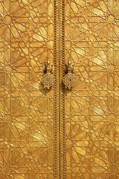 Handle Photograph - Royal Palace, Fez, Morocco, North by Neil Farrin