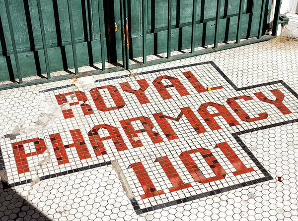 Photograph - Royal Pharmacy Tiles In New Orleans by John Rizzuto
