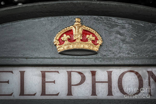 Phone Booth Photograph - Royal Phone Booth by Delphimages Photo Creations