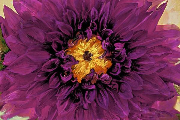 Wall Art - Painting - Royal Purple Chrysanthemum by Barbara Chichester