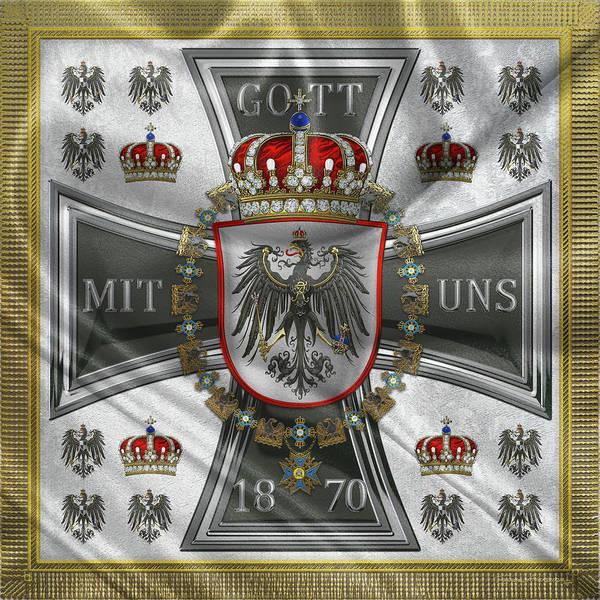 Digital Art - Waving Royal Standard Of The Crown Prince Of Prussia 1871-1892 by Serge Averbukh