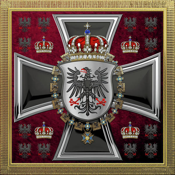 Digital Art - Waving Royal Standard Of The King Of Prussia 1844-1871  by Serge Averbukh