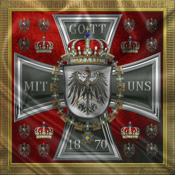 Digital Art - Waving Royal Standard Of The King Of Prussia 1871-1892 by Serge Averbukh