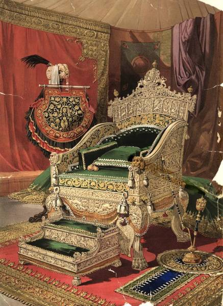 Exhibition Photograph - Royal Throne by Hulton Archive