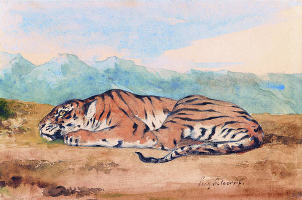 Wall Art - Painting - Royal Tiger - Digital Remastered Edition by Eugene Delacroix