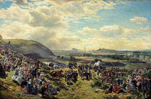Royal Artillery Wall Art - Painting - Royal Volunteer Review, 7 August 1860 by Samuel Bough