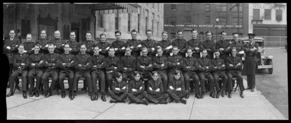 Assistance Painting - Royal York Hotel Service Department Staff 1929 by Celestial Images