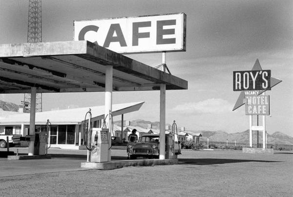 Old People Photograph - Roys Motel, Cafe, And Gas On Route 66 by Car Culture