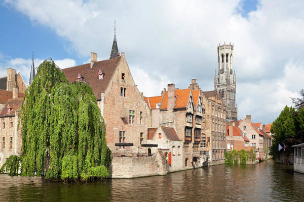 Belgium Photograph - Rozenhoedkaai In Bruges by Michaelutech