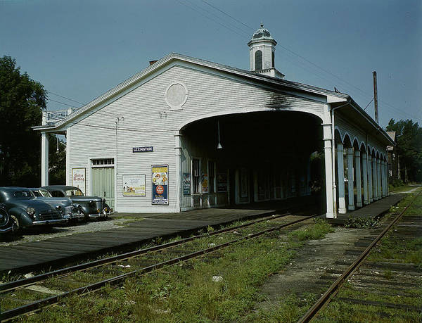 Station To Station Photograph - Rr Station Near Boston by Fritz Goro