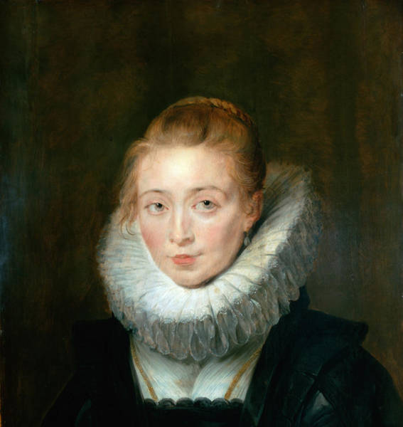 Lady In Waiting Painting - Rubens, Pieter Paul - Portrait Of Lady-in-waiting To The Infanta Isabella by Hermitage Museum