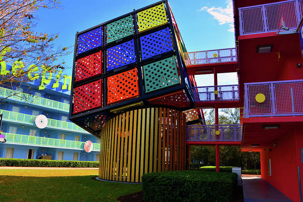 Wall Art - Photograph - Rubik's Cube At Pop Century by David Lee Thompson