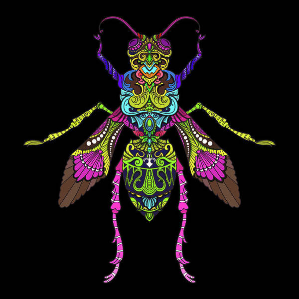 Painting - Rubino Bug Wasp Bee Insect by Tony Rubino