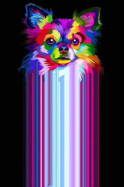 Painting - Rubino Dog Puppy Canine K9 Pets Gift Funny Cute by Tony Rubino
