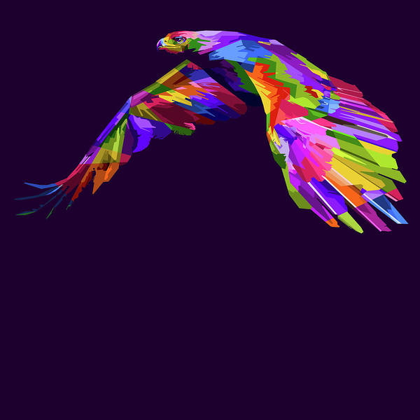Painting - Rubino Hawk Eagle Bird Flying by Tony Rubino