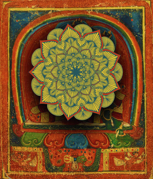 Wall Art - Painting - Rubino Mandala India Hand Gold by Tony Rubino