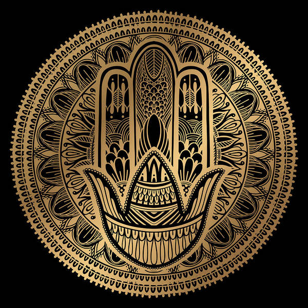Wall Art - Painting - Rubino Mandala Sepia India Hamsa by Tony Rubino