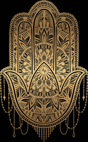 Painting - Rubino Mandala Sepia India Hand Gold by Tony Rubino