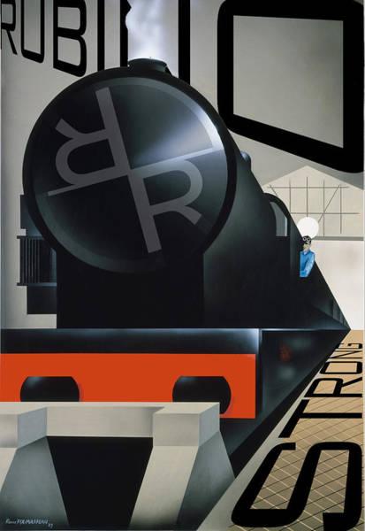 Painting - Rubino Vintage Original Train Strong by Tony Rubino