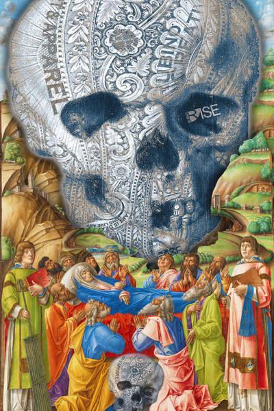 Painting - Rubino Vintage Skull Garden Rise by Tony Rubino