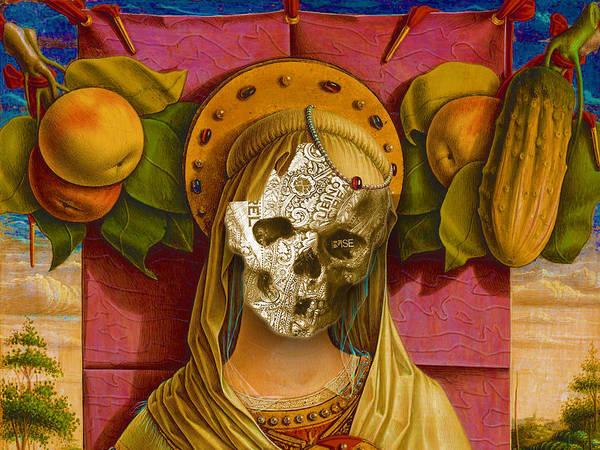 Painting - Rubino Vintage Skull Garden by Tony Rubino