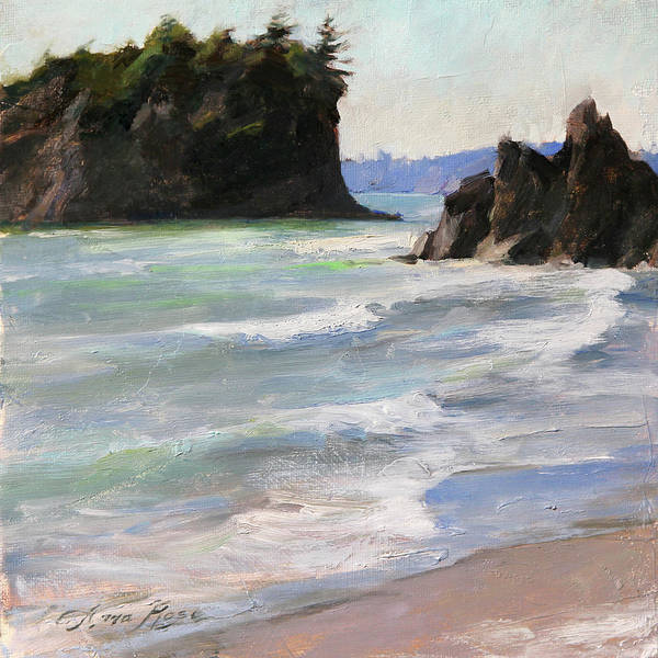Wall Art - Painting - Ruby Beach by Anna Rose Bain