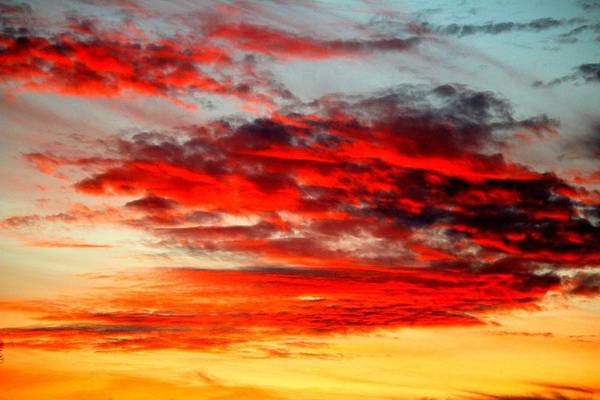 Photograph - Ruby Red Sky by Cynthia Guinn