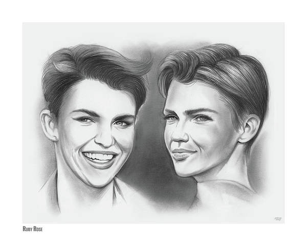 Actress Drawing - Ruby Rose by Greg Joens