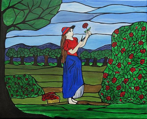 Glass Cutting Painting - Ruby's Red Roses by Rachel Olynuk