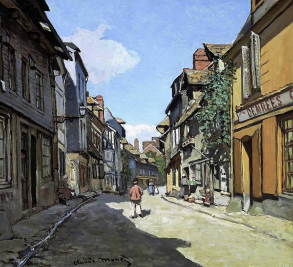 Wall Art - Painting - Rue De La Bavole, Honfleur - Digital Remastered Edition by Claude Monet