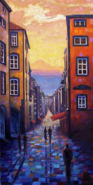 Painting - Rue Des Gras - France Art by Rob Buntin