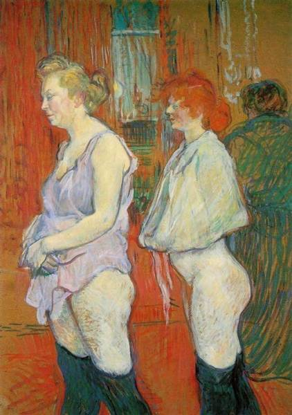 Wall Art - Painting - Rue Des Moulins - The Medical Inspection - 1894 - National Gallery Of Art - Washington Dc - Painting by Henri de Toulouse-Lautrec
