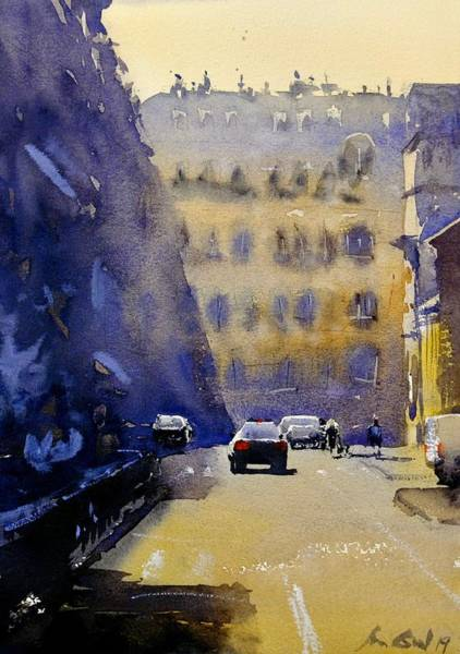 Wall Art - Painting - Rue Quelque Part by Max Good