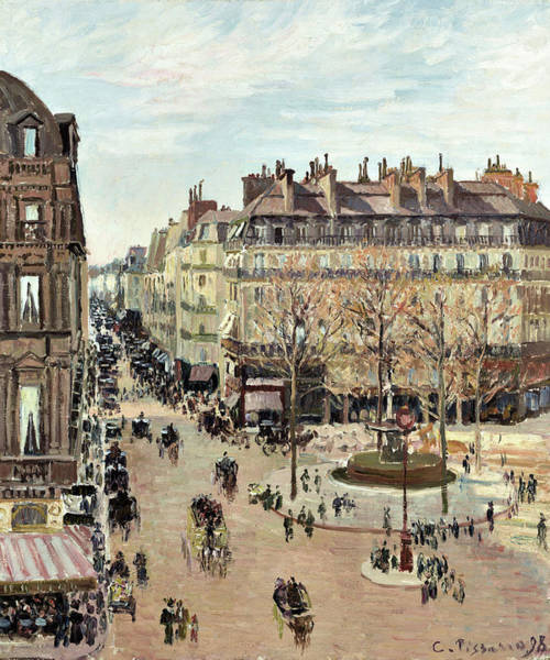 Wall Art - Painting - Rue Saint-honore - Digital Remastered Edition by Camille Pissarro