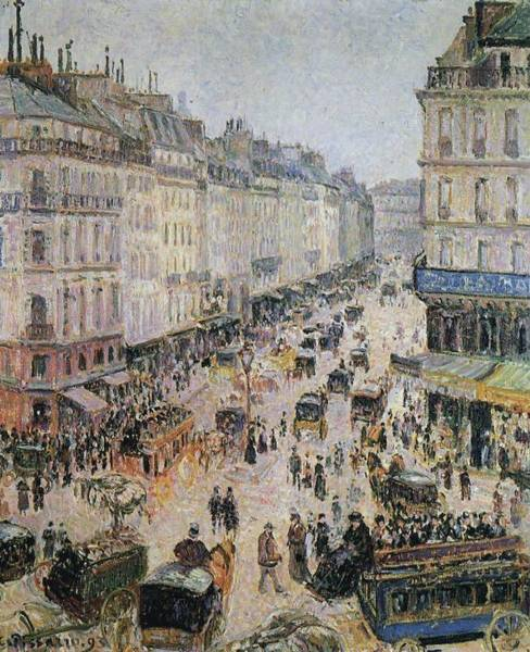 Lazare Painting - Rue Saint-lazare, 1893 by Camille Pissarro