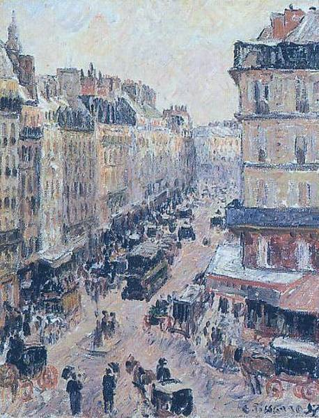 Lazare Painting - Rue Saint-lazare, 1897 by Camille Pissarro