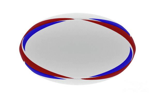 Wall Art - Digital Art - Rugby Ball Red Blue Design by Allan Swart