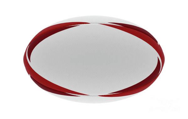Wall Art - Digital Art - Rugby Ball Red Design by Allan Swart