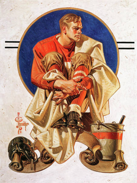 Wall Art - Painting - Rugby Hero - Digital Remastered Edition by Joseph Christian Leyendecker